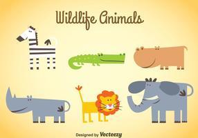 Wildlife Djur uppsättningar vektor