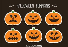Halloween Kürbis Set vektor