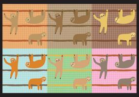 Sloth mönster vektor