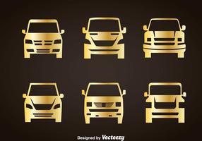 Autos Gold Icons vektor