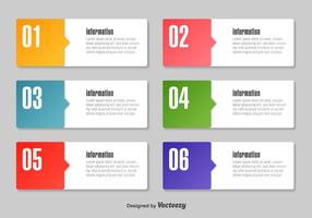 Enkla Infographic Text Boxes vektor