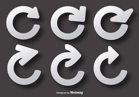 Wiederholen Sie Vectr Icons