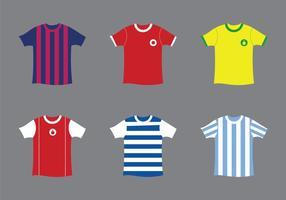 Gratis Fotbollsset Vektorillustration