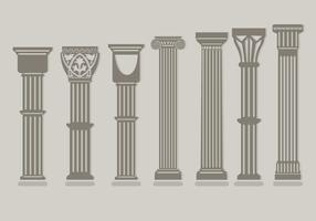 Römische Säulenvektoren