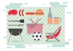 Familien-Picknick-Vektoren