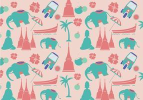 Modern thailändsk mönstervektor