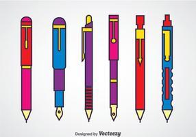 Penna och mekaniska penna uppsättningar vektor