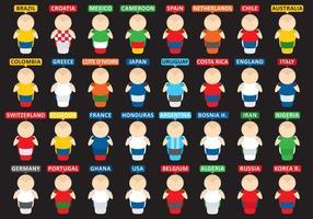 Nette Fußballspieler