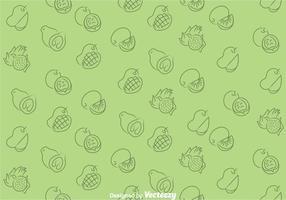 Früchte grünes Muster vektor