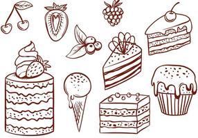 Freie Kuchen Vektoren