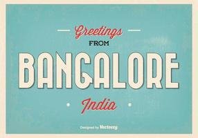 Bangalore Indien Gruß Illustration