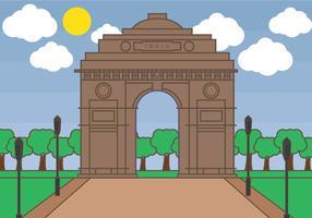 Indien-Tor-Vektor vektor