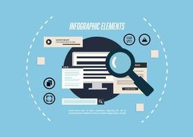 Free Infographic Elements Vektor Hintergrund