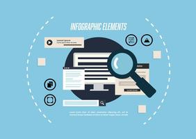 Gratis Infographic Elements Vector Background