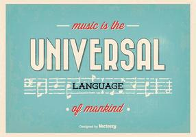 Typografisches Musikzitatplakat vektor