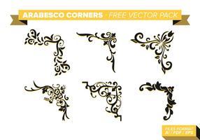 Arabesco Ecken kostenlos Vektor Pack