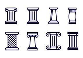 Kostenlose römische Säule Icon Vektor