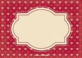 Valentinstag Schrott Hintergrund vektor