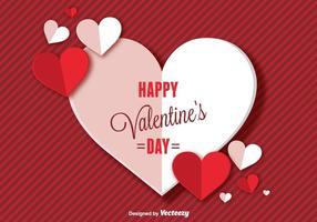 Glücklicher Valentinstag Hintergrund vektor