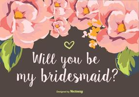 Wirst du meine Brautjungfer sein? vektor