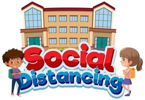 coronavirus-affischdesign med social social distans vektor