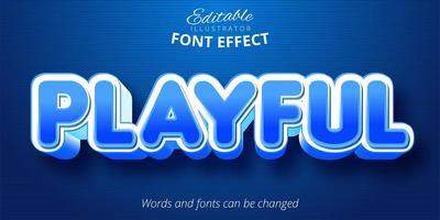 spielerisch bearbeitbarer Texteffekt vektor