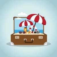 Strand in einem Koffer