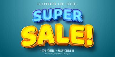 Super Sale fett Schriftart vektor