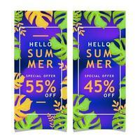 samling av sommarförsäljningsbanners vektor