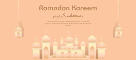 Ramadan Kareem islamischer heiliger Monat vektor