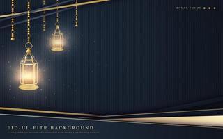 kunglig ramadan bakgrund vektor