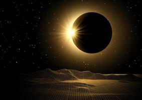 landskap och solförmörkelse