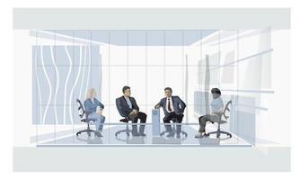 Treffen mit Geschäftsleuten. vektor