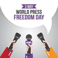 Plakat zum Welttag der Pressefreiheit vektor