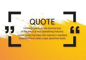 moderne Zitate Kommunikationsvorlage mit orange Pinsel Design