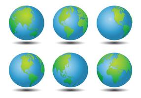 Weltkartenvektoren vektor