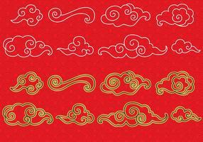 Kinesiska molnvektorer vektor