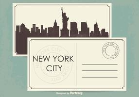 New York City Vykort Illustration vektor