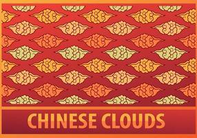 Chinesische Wolken Muster vektor