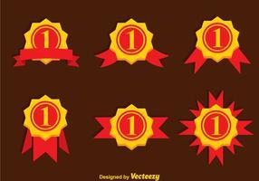 Erster Platz Ribbon Gold Icons