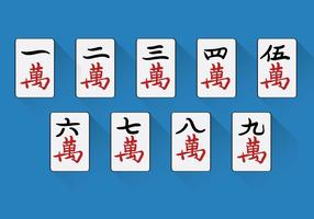 Chinesische Mahjong Vektor