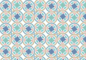 Kreis Marokkanischen Muster Hintergrund Vektor