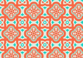 Orange och Teal Marockansk Pattern Bakgrund Vector