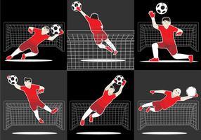 Cool Goal Keeper Vektor
