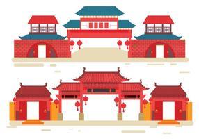 Kina Town Vector