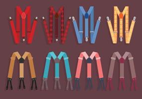 Suspenders Färgglada Vector