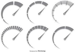 Grå Tachometer Vector Set
