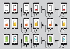 Telefon-Ladegerät Icons Vektor