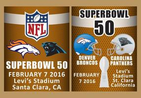 Superbowl 50 Flyer Vektoren