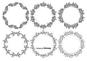 Handdragen stil Vector Frame Set
